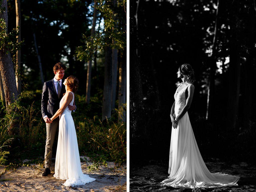 Sunset fotoshoot bruiloft