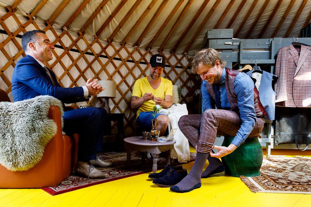 Bruiloft in een yurt