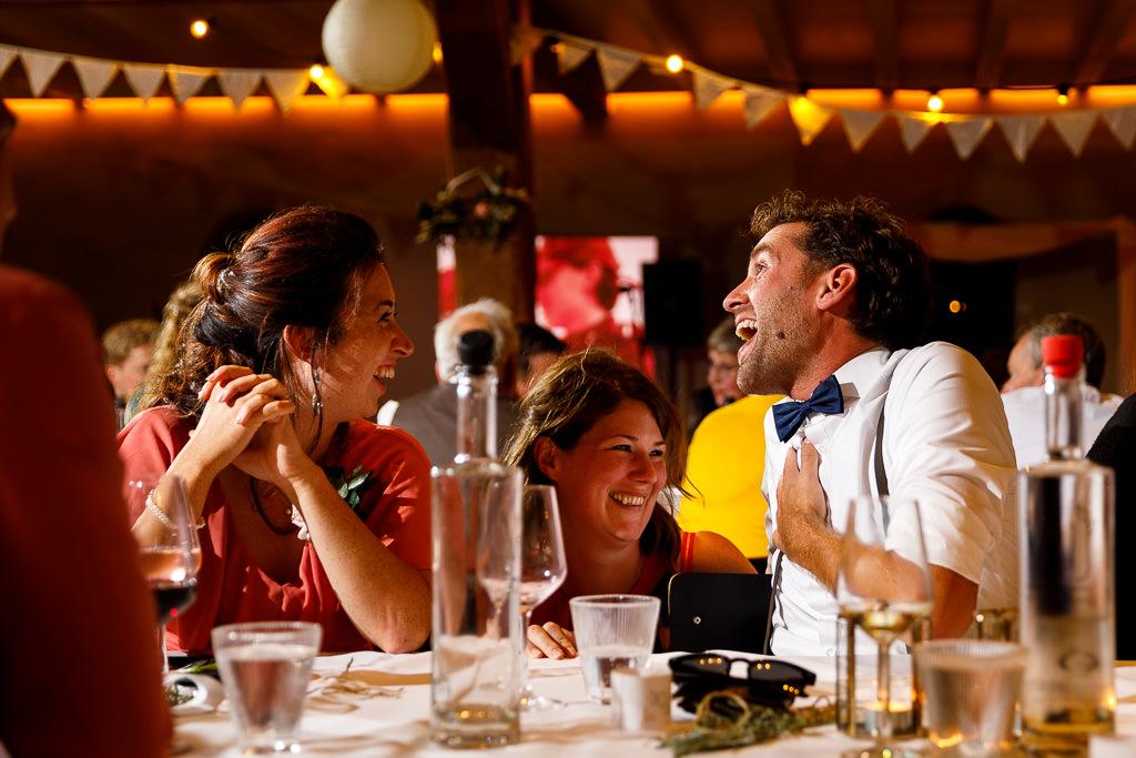 Diner foto bruiloft