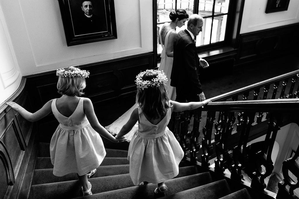 Trapscene bruiloft