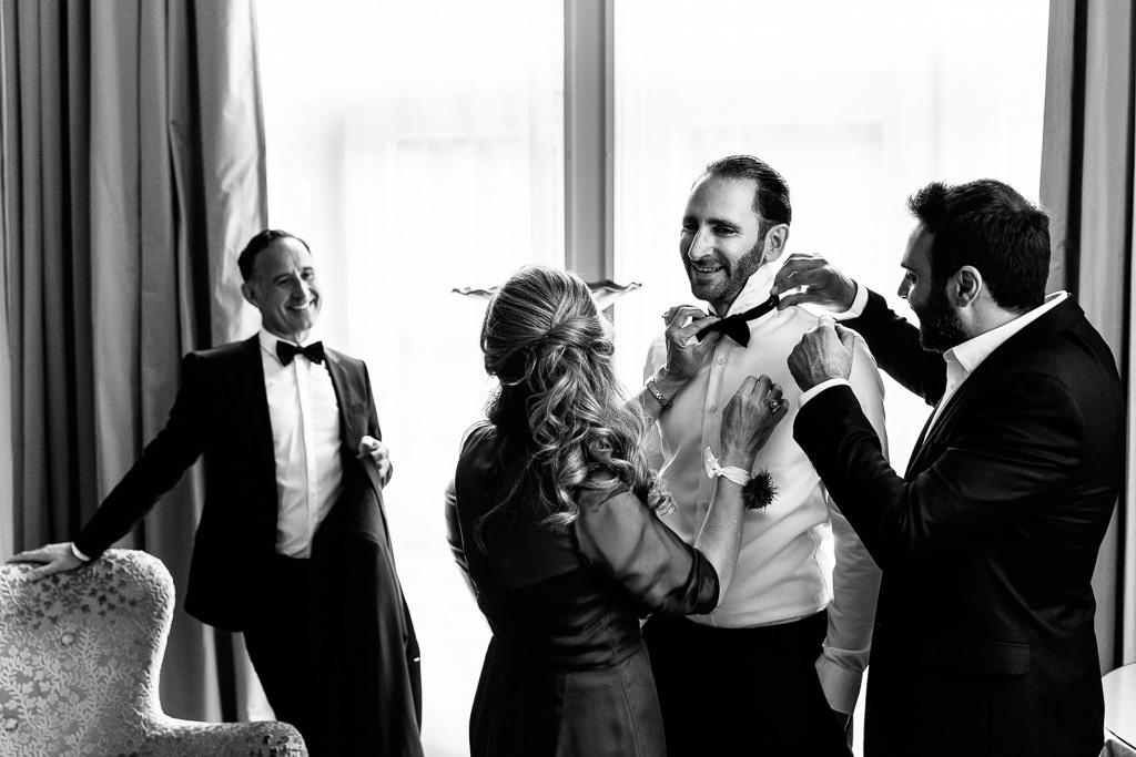 Voorbereidingen bruidegom Kasteel Engelenburg
