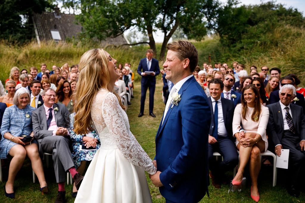 Trouwceremonie Mark van Leeuwen