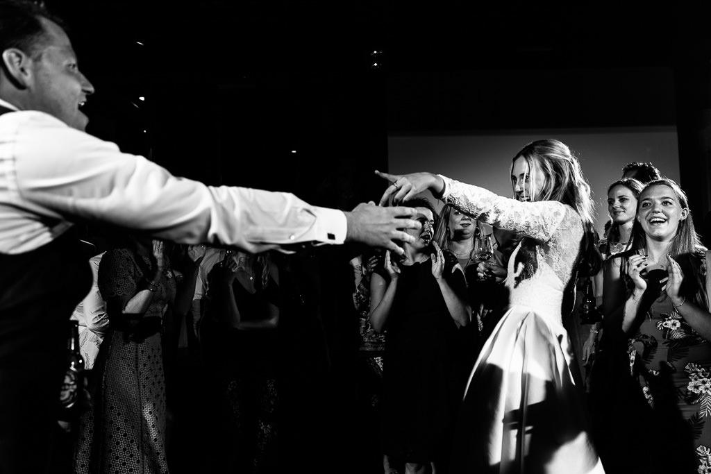 Dansfoto's bruiloft