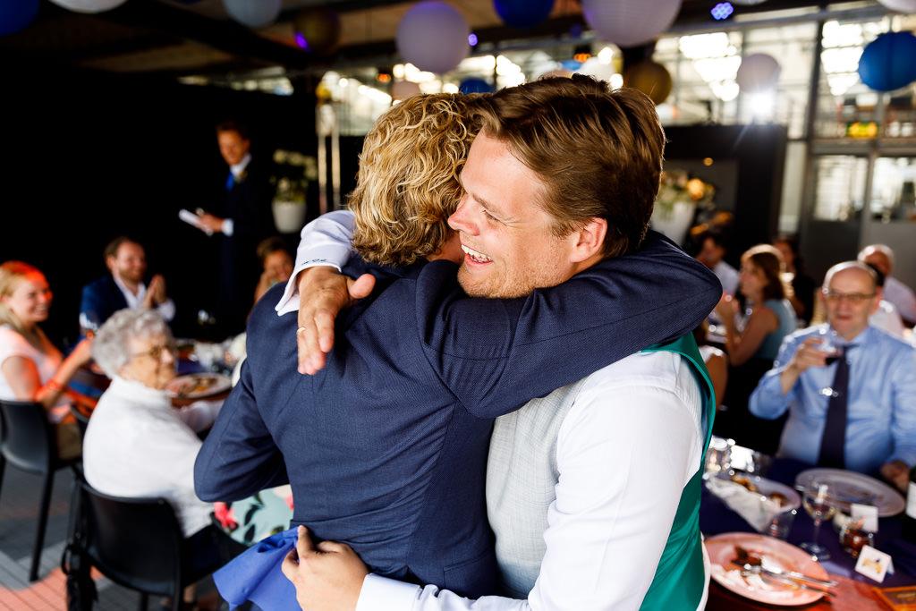 Speeches tijdens bruiloft Rotterdam