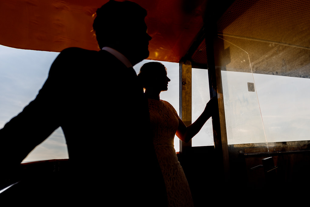 Watertaxi tijdens bruiloft Rotterdam