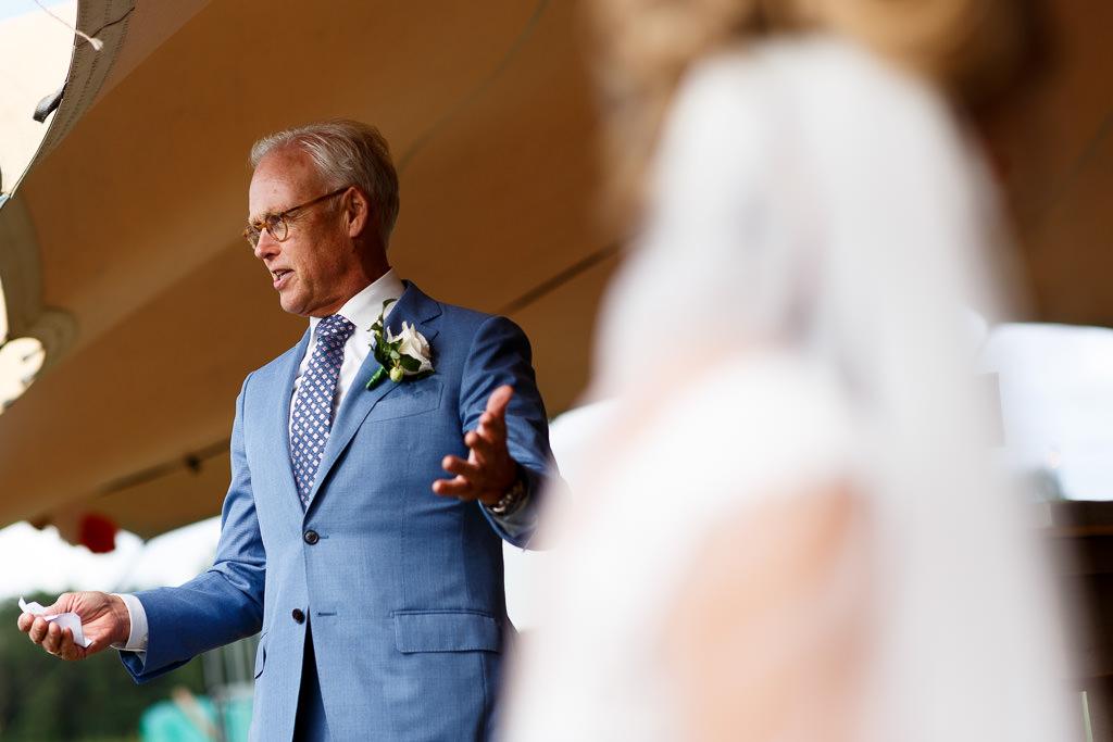 Festival bruiloft speeches