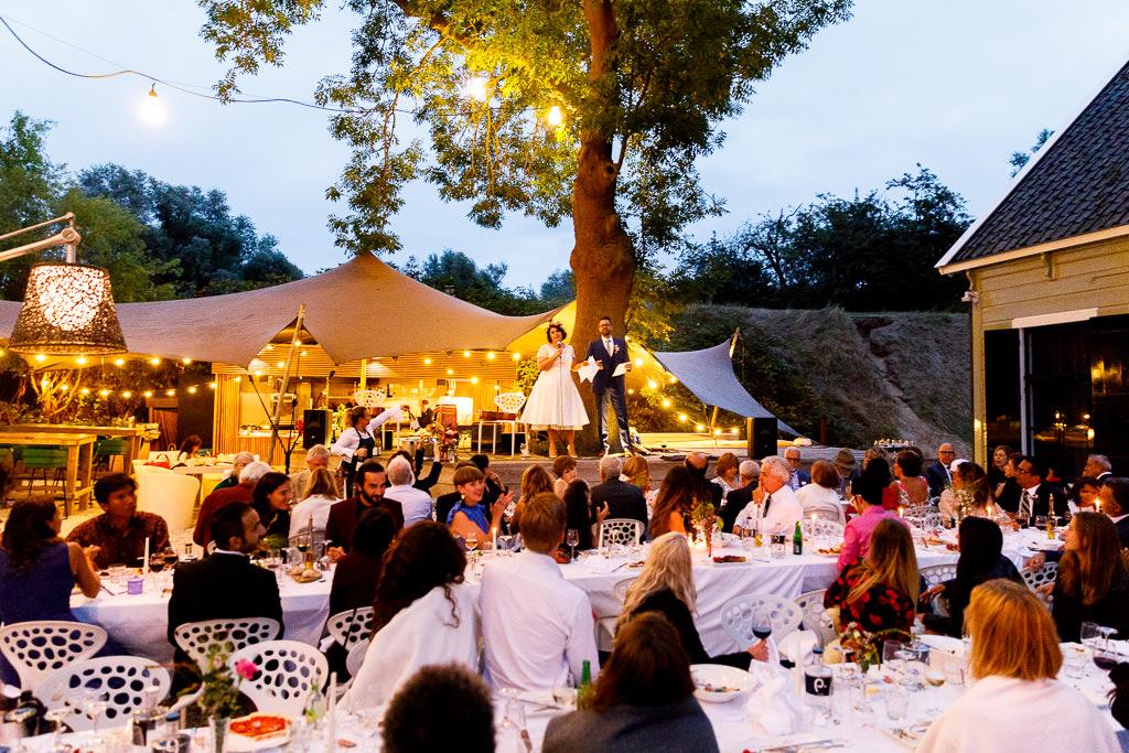 Avond diner bruiloft