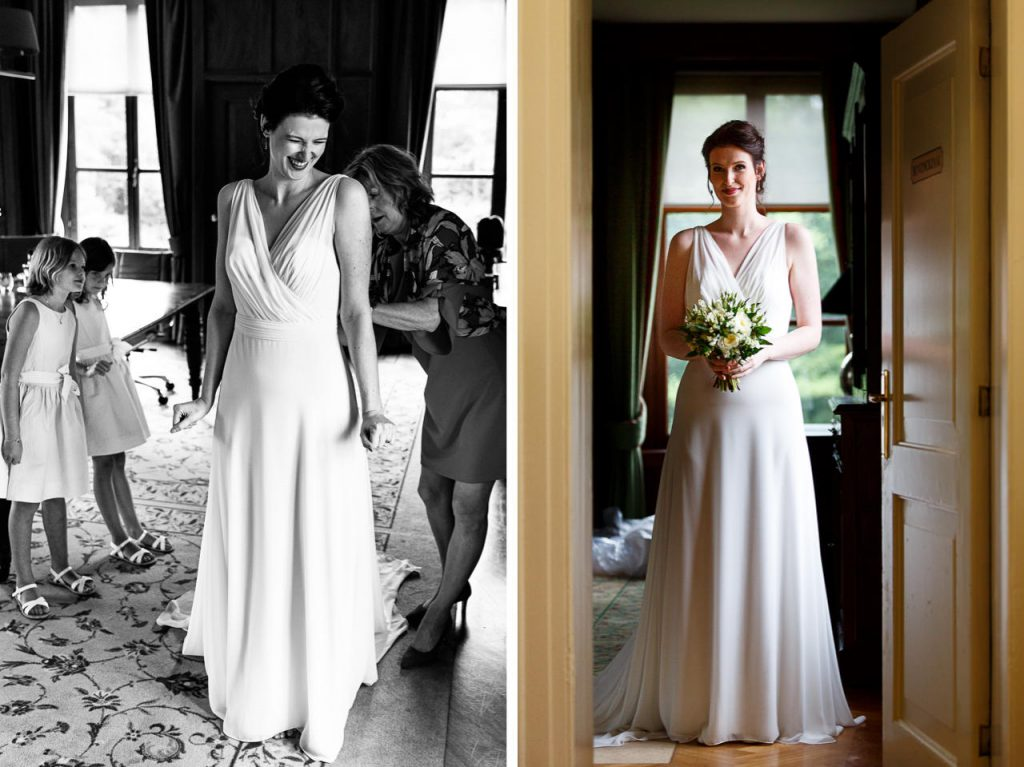 Bruid met I Do I Do Amsterdam trouwjurk